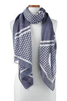 レディス・ドット・アンド・ストライプ・スカーフ