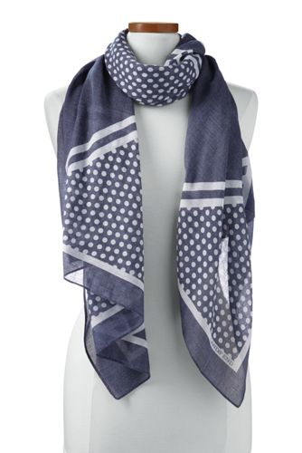 Women's Diagonal Striped Scarf