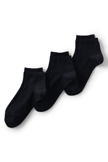 School Uniform Women's Seamless Toe Solid Ankle Socks (3-pack)