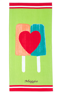 Kids' Graphic Velour Beach Towel