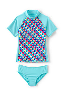 Girls' Rash Guard top and bottoms