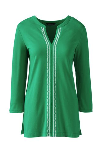 Women's Regular Cotton/Modal Embroidered Tunic
