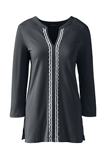 Women's Cotton/Modal Embroidered Tunic