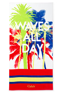 Kids Graphic Velour Beach Towel