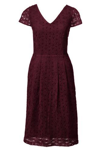 Women's Regular Embroidered Cap Sleeve Dress