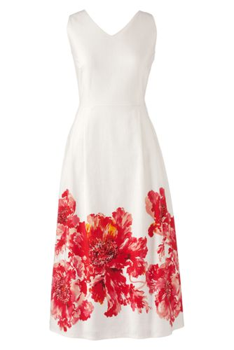Women's Regular Sleeveless V-neck Dress