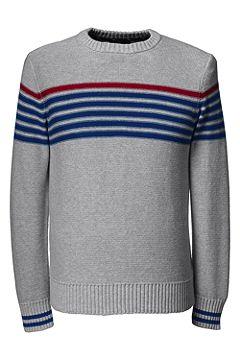 Drifter Cotton Chest Stripe Crew Sweater 467912