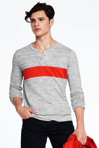 Men's Chest Stripe Mariner Henley Sweater