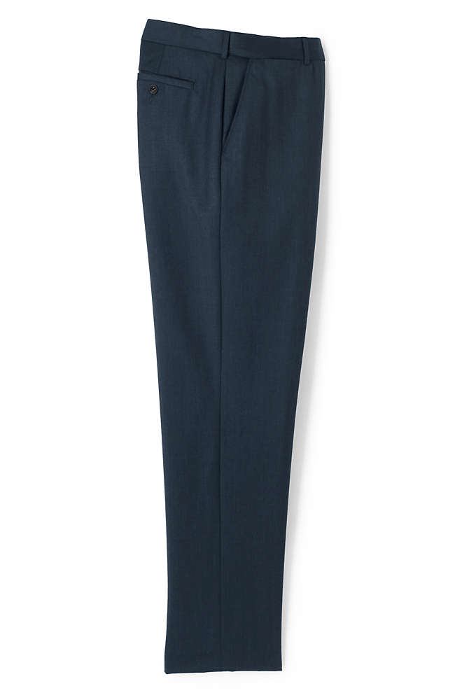 Men's Big and Tall Comfort Waist Wool Gabardine Dress Pants, Front