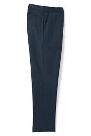 Men's Big and Tall Comfort Waist Wool Gabardine Trousers
