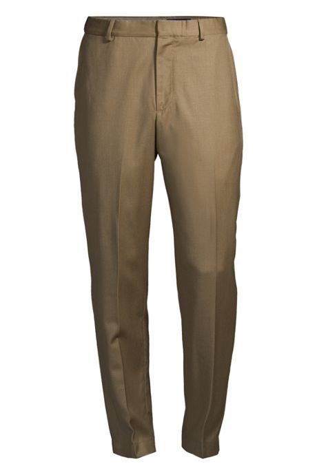 Men's Comfort Waist Wool Gabardine Dress Pants