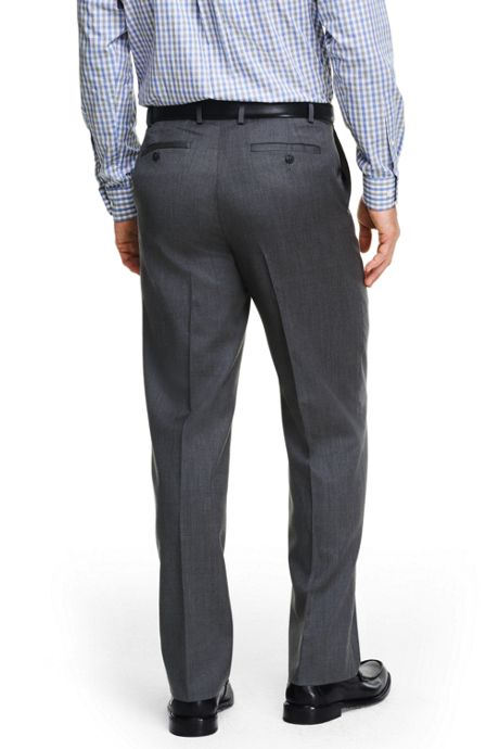 Men's Big and Tall Comfort Waist Wool Gabardine Dress Pants