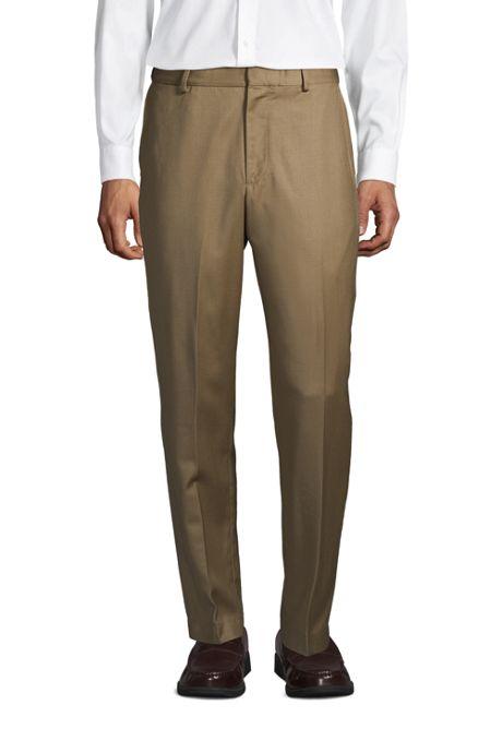 Men's Comfort Waist Wool Gabardine Dress Pants