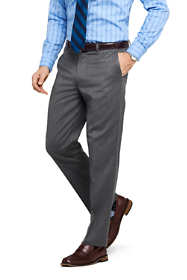 Men's Comfort Waist Wool Gabardine  Dress Trousers