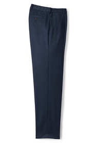 Men's Comfort Waist Pleat Wool Gabardine Trousers