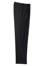 Men's Comfort Waist Pleated Wool Gabardine Pants