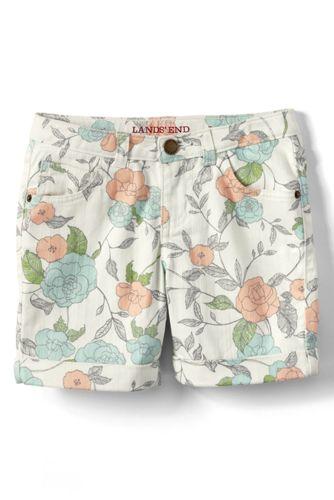 Girls' 5 Pocket Denim Midi Shorts