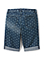 Girls' 5-pocket Denim Bermuda Length Shorts