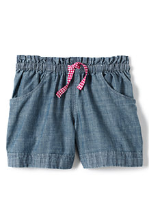 Girls' Chambray Shorts