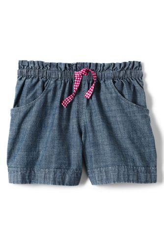 Chambray-Shorts für Baby Mädchen