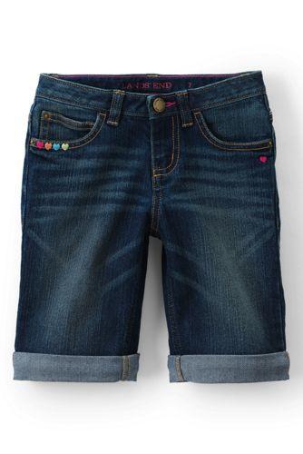 Little Girls' 5-pocket Denim Bermuda Length Shorts