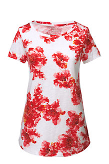 Women's Slub Jersey Print Tee