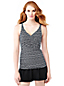 Women's Shape & Enhance Wrap Front Medallion Print Tankini Top