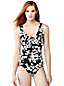 Women's Regular Leaf Print Slender V-neck Swimsuit