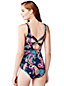 Women's Regular D-Cup Paisley Scoop Neck Slender Swimsuit