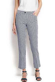 Women's Seersucker Gingham Crops