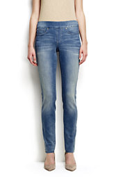 Mid Rise Pull-on Skinny Jeans