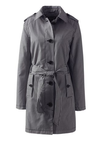 Le Trench Coat Harbor à Motifs, Femme Stature Standard