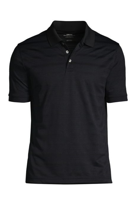 Men's Custom Logo Short Sleeve Stripe Rapid Dry Polo Shirt