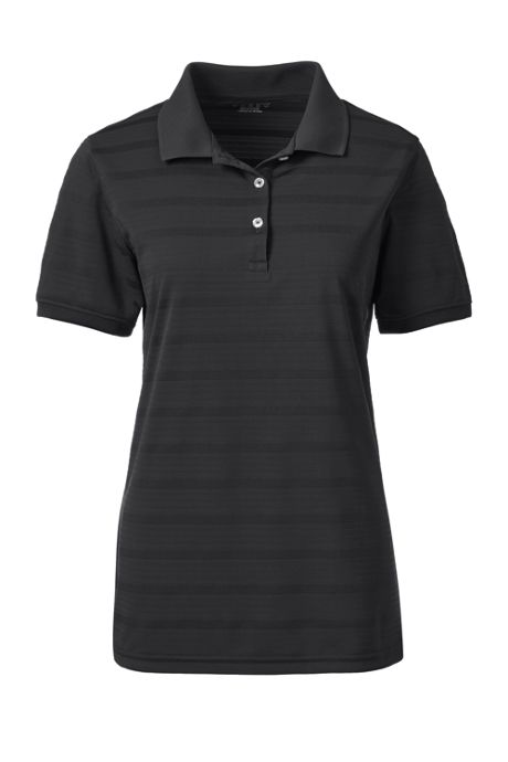Women's Custom Logo Short Sleeve Stripe Rapid Dry Polo Shirt