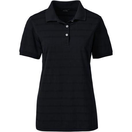 Women's Custom Logo Short Sleeve Stripe Rapid Dry Polo Shirt