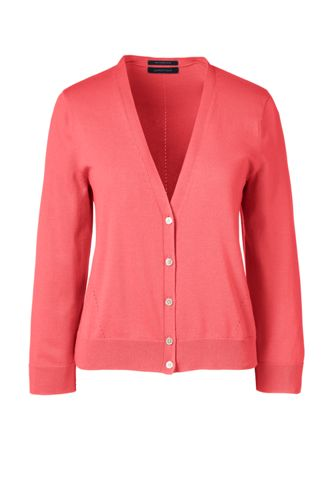 Le Cardigan Supima® Court Manches 3/4, Femme Stature Standard