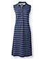 La Robe Polo Piqué Sans Manches à Motifs Femme, Stature Standard