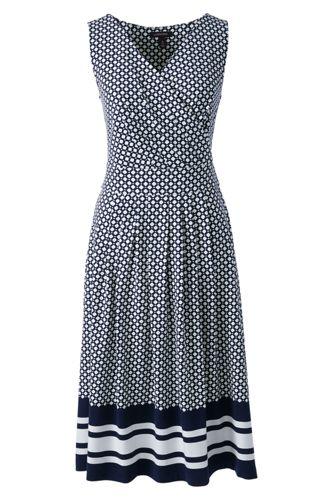 La Robe Effet Cache-Coeur Ourlet Rayé, Femme Stature Standard