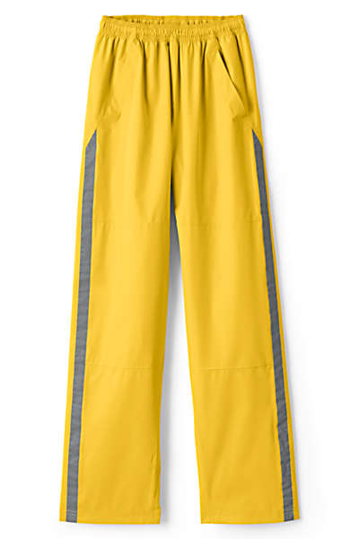 Lands' End Adult Waterproof Rain Pants (amarillo yellow)