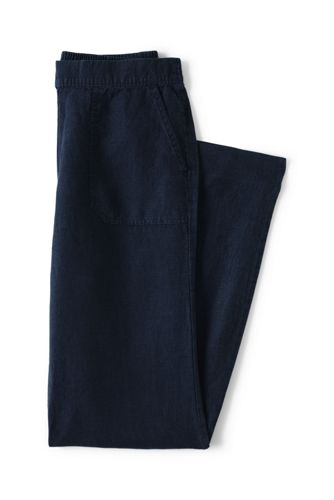 Le Pantalon Inspiration Rétro en Lin, Femme Stature Standard