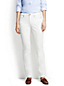 Women's Regular Mid Rise Straight Leg Stain Repellent White Jeans