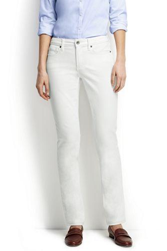 Fleckabweisende Straight Jeans in Weiß für Damen