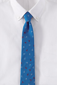 Men's Anchor Print Cotton Tie