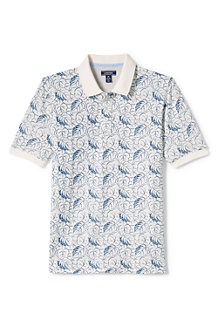 Men's Printed Traditional Fit Piqué Polo