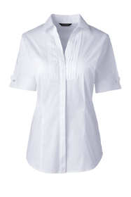 Women's Short Sleeve French Cuff Tuxedo Stretch Shirt