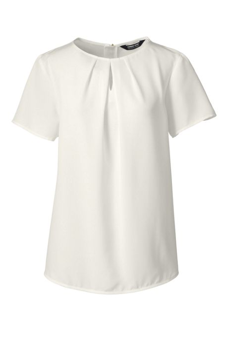 Women's Short Sleeve Keyhole Blouse Top