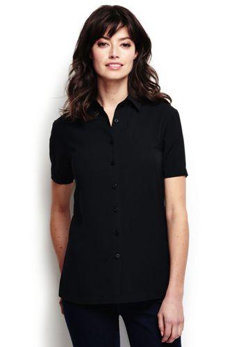 women's short sleeve camp shirt