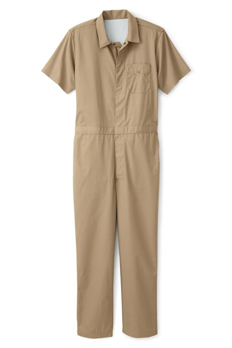 Unisex Big Short Sleeve Lightweight Coveralls