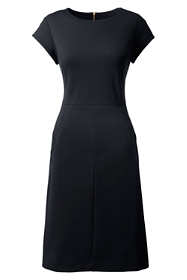 Women's Plus Size Short Sleeve Ponte Sheath Dress