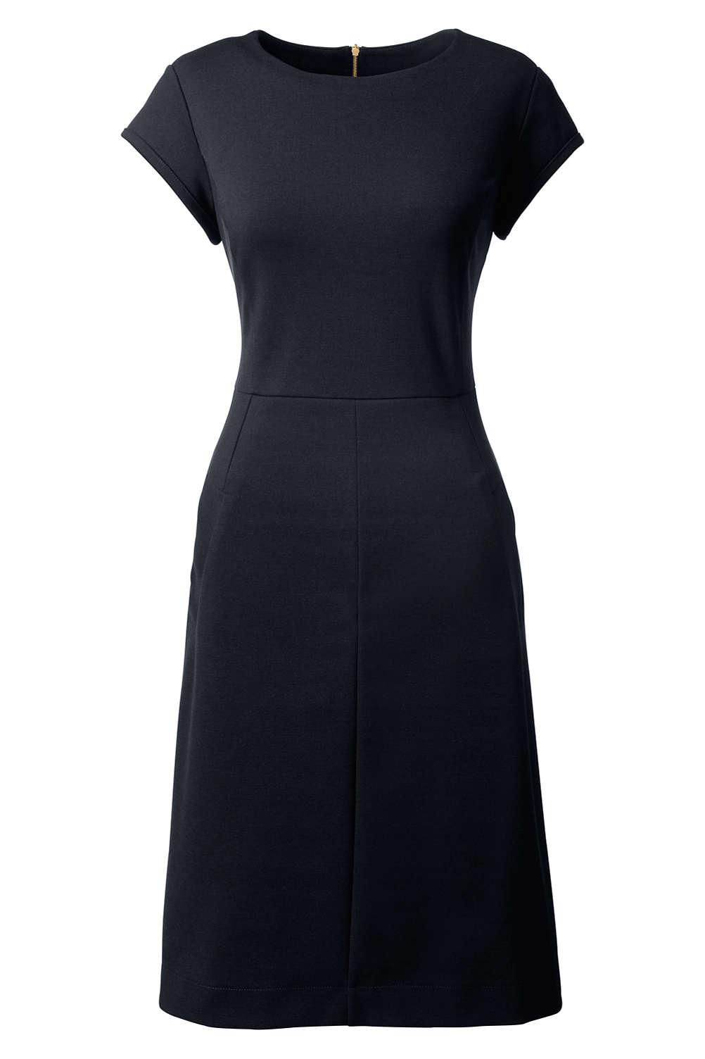 Women\'s Plus Size Short Sleeve Ponte Sheath Dress